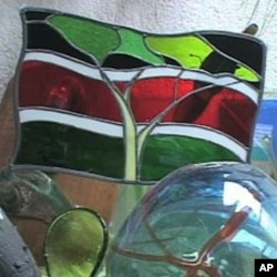 Kitengela Glass products include stained glass using recycled materials