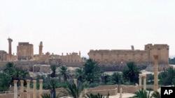 今年5月17日敘利亞政府拍攝有關帕爾米亞古城的照片