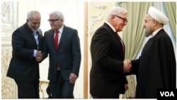 دیدار وزیر خارجه آلمان با حسن روحانی و جواد ظریف