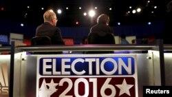 Debat kandidat presiden dari Partai Republik di North Charleston Coliseum di North Charleston, South Carolina, 13 Januari 2016.