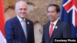 Presiden Joko Widodo dan PM Australia Malcom Turnbull lakukan pertemuan di sela-sela KTT ASEAN di Vientiane, Laos, Kamis 8 September 2016 (Foto: Biro Pers Kepresidenan).