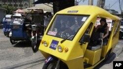 Էլեկտրականությամբ աշխատող փոքրածավալ փոխադրամիջոց Ֆիլիպիններում