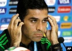 FILE - Former Mexico's soccer team captain Rafael Marquez Alvarez.