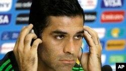 Le capitaine de l'équipe de football mexicain, Rafael Marquez à Natal, Brésil, 12 juin 2014.