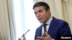 Menteri Luar Negeri Macedonia Nikola Dimitrov di Athena, Yunani, 14 Juni 2017. (Foto: dok)
