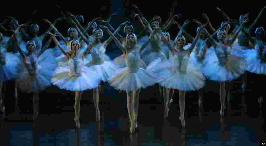 "Dancers of the Joburg Ballet and the Liaoning Ballet of China company take part in a final dress rehearsal in Johannesburg, South Africa ahead of a two week run of performances of ""Swan Lake"" which gets under way at the Joburg Theater on April 18."