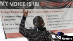 Primeiro-ministro do Zimbabwe, e líder do MDC, Morgan Tsvangirai