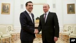 Путін вітає в Кремлі прем'єр-міністра Греції Алексіса Ципраса