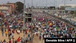 Protesto em Luanda contra reforma eleitoral, 11 de Setembro de 2021