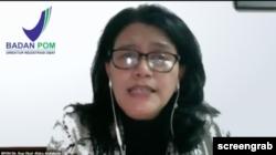 Direktur Registrasi Obat Dr. Rizka Andalucia menegaskan, uji khasiat penting supaya tidak menimbulkan treatment failure atau kegagalan pengobatan. (Foto: tangkapan layar)
