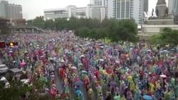 泰國抗議者無視禁止大型集會的禁令