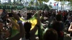 Protestan contra la violencia en Brasil