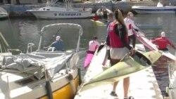 Полски кајакари на подготовки во Охрид