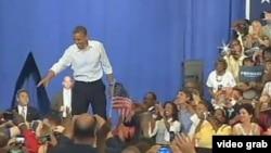 奥巴马在大选关键州维吉尼亚竞选