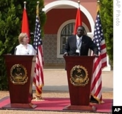 Secretary Hillary Clinton Recently visited Angola