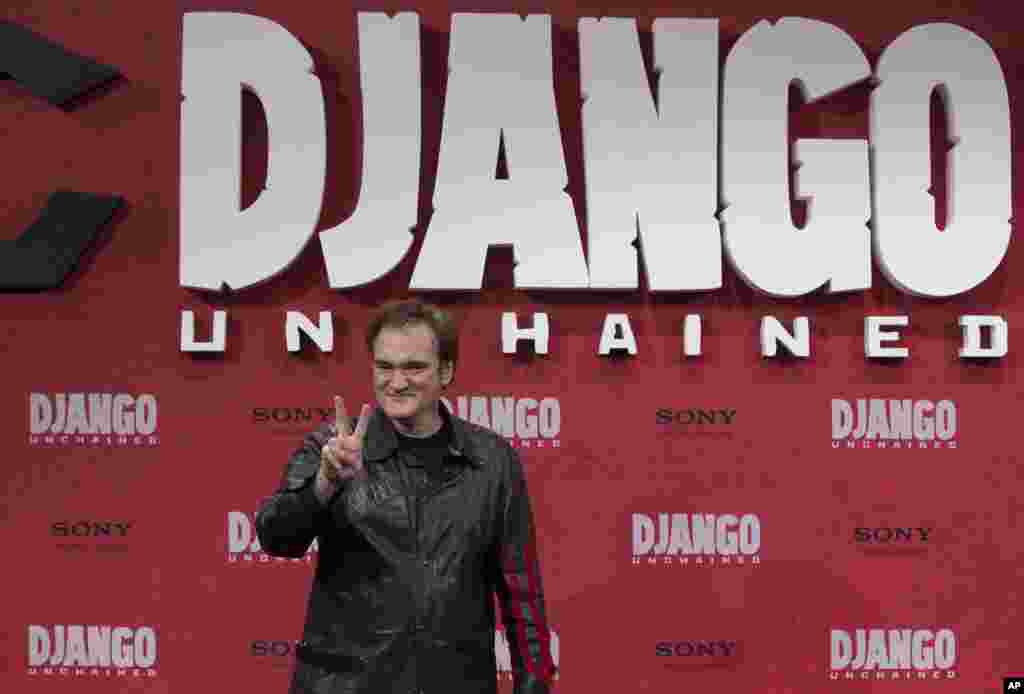"""Django Unchained - Zincirsiz"" filminin yönetmeni Quentin Tarantino."