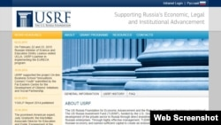 The home page of the U.S.-Russia Foundation and Rule of Law.
