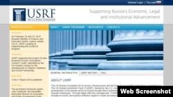 """Situs dari LSM """"U.S.-Russia Foundation and Rule of Law"""" atau USRF (foto: dok). Jaksa Rusia menyatakan LSM USRF adalah sebuah organisasi yang """"tidak diinginkan""""."""