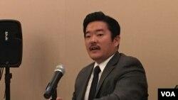 全球台湾研究所执行主任萧良其(美国之音钟辰芳拍摄)