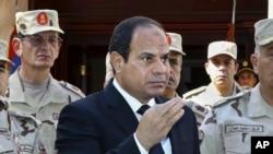 25일 시나이 반도 테러와 관련해 기자회견을 하는 엘시시 이집트 대통령