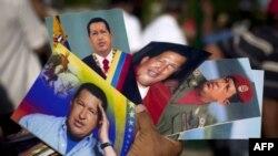 Fotografije Uga Čaveza, u kiosku u Karakasu, Venecuela.