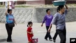 지난 2011년 북한 나선의 장마당. (자료사진)