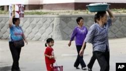 지난 2011년 9월 북한 나선의 장마당. (자료사진)