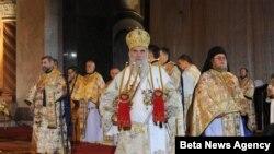 Patrijarh Irinej je sinoć u u Hramu svetog Save u Beogradu služio Božićnu svetu arhijerejsku liturgiju,