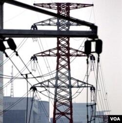 Jaringan listrik di Jakarta.