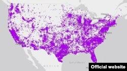 نقشه جدید اداره سرشماری نفوس ایالات متحده امریکا