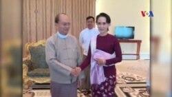 Bà Aung San Suu Kyi hội đàm với Tổng thống Myanmar