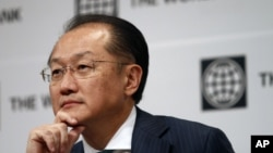 World Bank Group President Jim Yong Kim attends a press conference in Seoul, South Korea, Oct. 15, 2012.