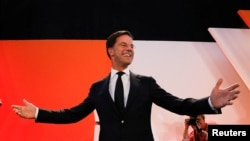 荷兰自民党党首、首相马克·吕特领导的自民党大选中赢得最多席位