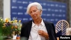 ប្រធានមូលនិធិរូបិយវត្តុអន្តរជាតិលោកស្រី Christine Lagarde ចូលរួមក្នុងវេទិកាស្តីពីស្រ្តីនៅប្រទេសម៉ិចស៊ិក កាលពីថ្ងៃទី៣០ខែឧសភាឆ្នាំ២០១៩។