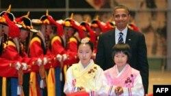 Tổng thống Mỹ Barack Obama tại tiệc chiêu đãi dành cho Hội nghị thượng đỉnh G20 tại Seoul, Hàn Quốc, Thứ Năm 11/11/2010