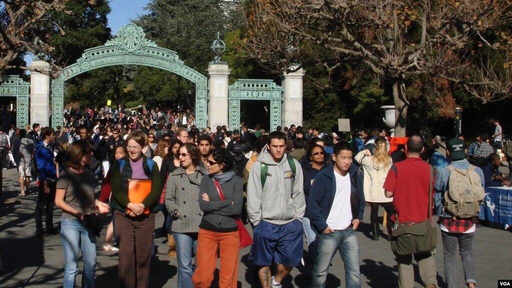 Đại học UC Berkeley ở miền bắc California. Hình minh họa. (Ảnh: Bùi Văn Phú)
