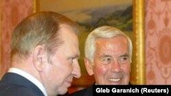 Сенатор Ричард Луґар під час зустрічі з Леонідом Кучмою, 2004 рік