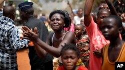 Des réfugiés centrafricains dans Bangui