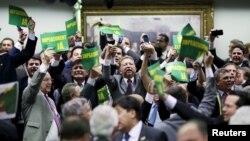 Comissão especial da Câmara dos Deputados na votação do processo de impugnação