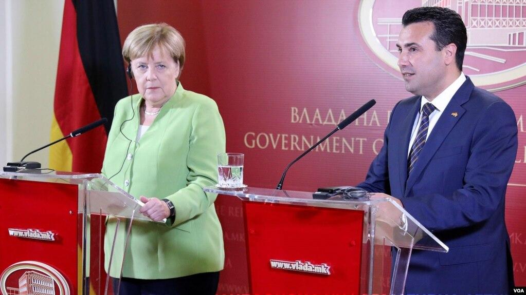 Kancelarja Merkel viziton Maqedoninë