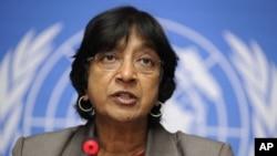 联合国人权事务高级专员皮莱(2011资料照片)