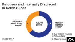 Refugees and Internally Displaced in South Sudan