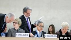 지난해 3월 스위스 제네바에서 열린 제 28차 유엔 인권이사회 회의장 모습. (자료사진)