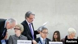 지난 17일 스위스 제네바에서 열린 유엔 인권이사회 회의 모습. (자료사진)