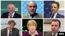 بالا از راست: مارک دوبوویتز، مایکل روبین و کن واینستین. پائین از راست: ایلان برمن، کلر لوپز و جاش بلاک.