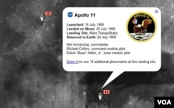 Con Google Moon se puede revivir el recorrido de los tripulantes del Apolo 11.