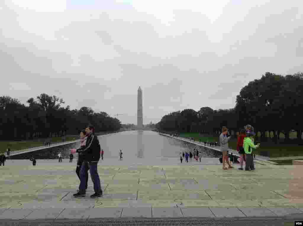 從林肯紀念堂遙望華盛頓紀念碑