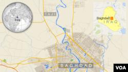 Peta wilayah Irak dan lokasi pangkalan Taji, sebelah utara Baghdad.