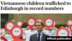 Tư liệu: Trẻ Việt Nam bị buôn sang Edinburgh - Screenshot from Scotsman.com