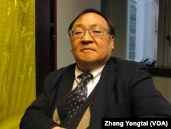 台湾国家政策基金会顾问陈一新博士(美国之音张永泰拍摄)